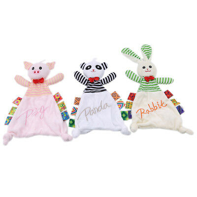 Soothing Towel Toys Animal Shape Infant Soft Interactive Plush Gift for Baby CB