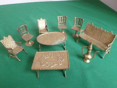 Metal Doll's House Furniture Various Pieces