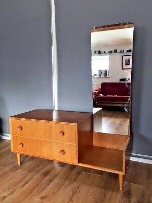 Mid Century Thomas Meredew  Small Chest of drawers with mirror