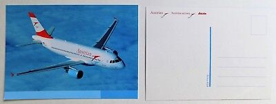 New Austrian Airline Postcard Airbus A319. Special Collection!