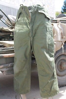 KOREA War US Army M-1951 Sateen Combat Trousers Size Small Short