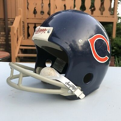 Vintage 70s 80s Rawlings Chicago Bears Football Helmet Large NFL w/ chin Strap