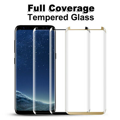 For Cover Tempered Glass Screen Protector Samsung GALAXY Note 8 S8 Plus S7 Edge
