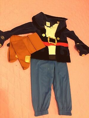 Disney Store Size 3t Jake Neverland Pirate Deluxe Boys Costume