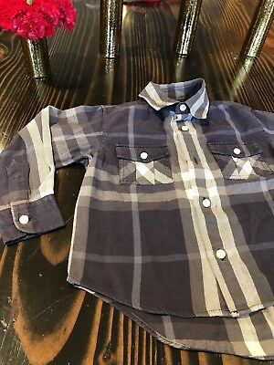 BURBERRY CHILDREN LONG SLEEVE BUTTON DOWN SHIRT BOYS SIZE 3 Year Blue *Free Ship