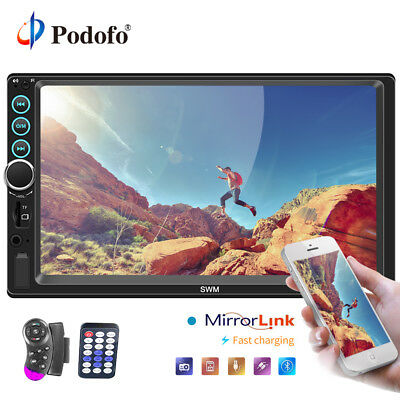 """2 DIN 7"""" Car Radio Mirror Link Touch Screen MP5 Stereo Player BT FM USB + Camera"""