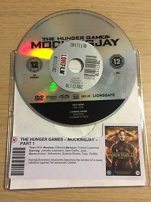 The Hunger Games - Mockingjay- PART 1 (DVD, 2014) DISC ONLY