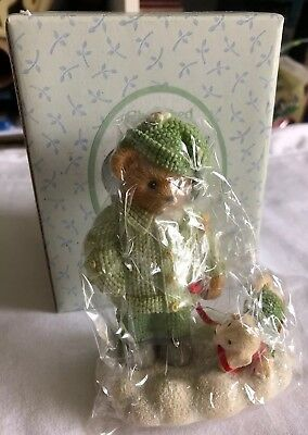 Cherished Teddies Louise Figurine 2002 Frolic In The Forest Girl With Puppy