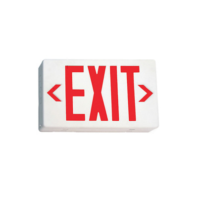 EmergiLite Double Face LED White Exit Sign Red Letter w/Battery ELXN400RN 24999