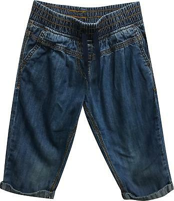 PRE-OWNED Girls Next Blue Tie Waist Trousers Size 5 Years