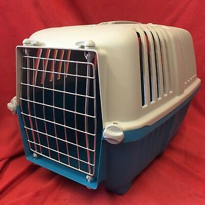 "Plastic Carrier Box 18 x 12"" Small Dogs Puppies Home Vets Transport Carrying"