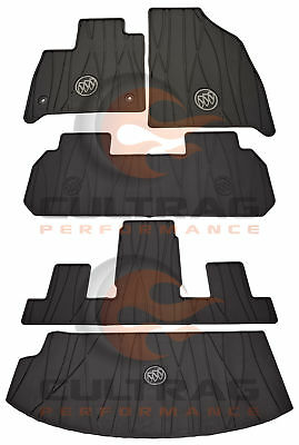 2018-2020 Buick Enclave Front & 2nd & 3rd & Cargo All Weather Floor Mats Black