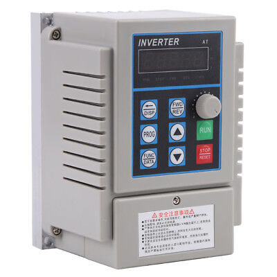 5A Single Phase 3PH Variable VFD Speed Drive Frequency Converter 220V 0.75KW