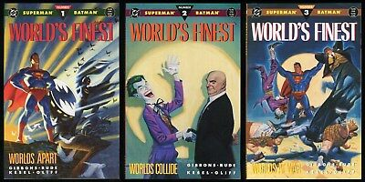 Worlds Finest Trade Paperback Set 1-2-3 1990 Batman Superman vs Joker Lex Luther