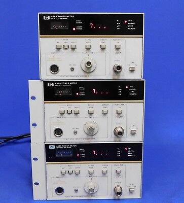 Agilent HP Keysight 436A Digital RF Power Meter Single-Channel Set of 3 Untested