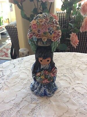 Goebel 1999 Degrazia Figurine~ My Gift Of Flowers~Artists Of The World