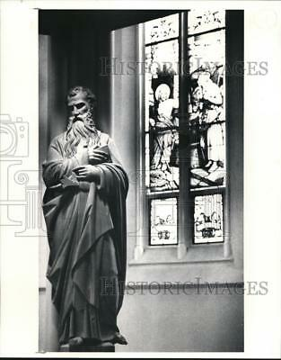 1991 Press Photo St. Paul's Statue at St. Peter's Church on Superior - cva88521