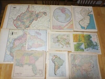Large Lot of 320+ Antique Maps Dating 1869-1938