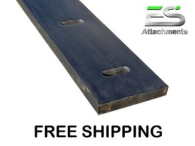 """12' 1-1/2 X 8"""" Rubber Cutting Edge, Snow Pusher, Snow Plow Rubber, Protech"""