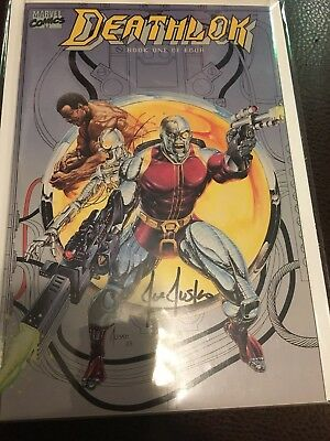 JOE JUSKO SIGNED DEATHLOCK BOOK 1 Great Cover MARVEL red Label It