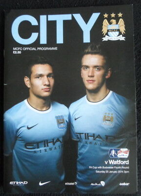 Manchester City v Watford   FA Cup 4th Round  25-1-2014