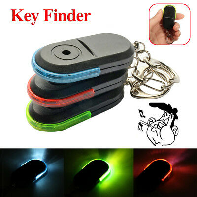 Whistle Keyring Locator Keychain Tracker Anti-Lost Sound Control LED Key Finder