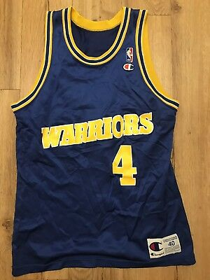 on sale af520 640d9 VINTAGE CHRIS WEBBER Golden State Warriors Champion Basketball Jersey Size  40