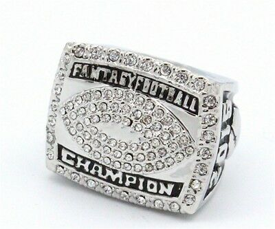 2015 Fantasy Football Championship Ring Trophy Prize Draft Award for League