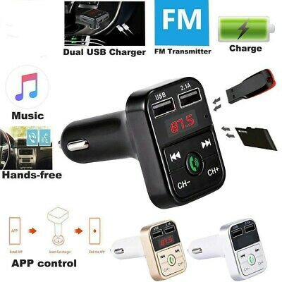 Bluetooth Car Kit Wireless FM Transmitter Dual USB Charger Audio MP3 Player LN