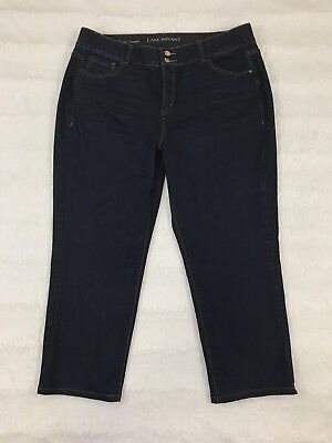 Lane Bryant Womens Jeans Size 20 Short Mid-Rise Straight Tighter Tummy Dark Wash
