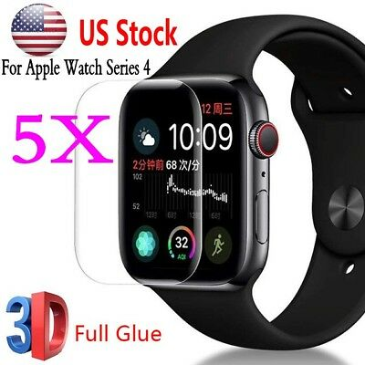 For Apple Watch Series 4 40/44MM 9H 3D Full Tempered Glass Screen Protector Film