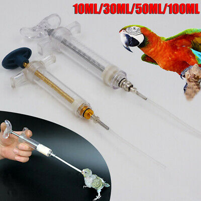 Parrot Bird Feeding Syringe Epidemic Prevention Treat Injector Crop Tube Tool