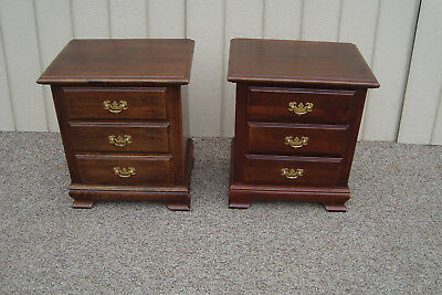 59790 Pair Solid Cherry Nightstand End Table Stand s