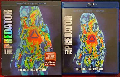 The Predator 2018 Blu Ray Dvd 2 Disc Set + Slipcover Sleeve Free World Shipping