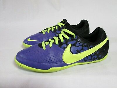 1452d8d36 Nike Fc247 Elastico Ii Youth Indoor Soccer Shoes Purple, Green Size 6 Euc!