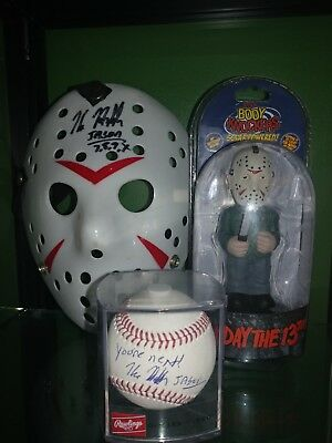 Friday The 13th Jason Voorhees Mask Signed By Kane Hodder body knocker BALL ALSO