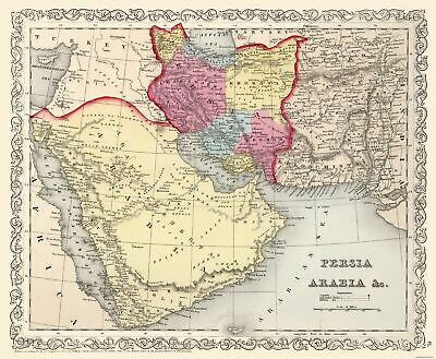 Persia Arabia Middle East - Mitchell 1857 - 27.94 x 23