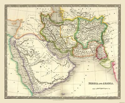 International Map - Persia and Arabia - Teesdale - 27.79 x 23