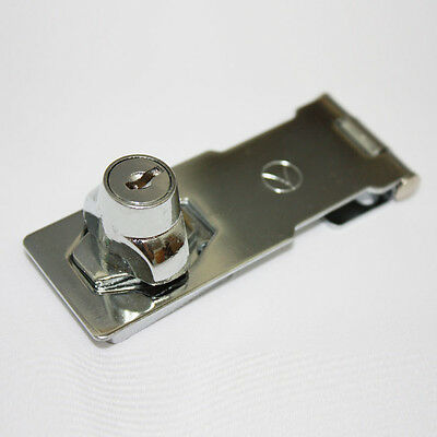 Stainless Metal 91mm Latch Lock With Key For Gate Box Furniture Door BW-3303