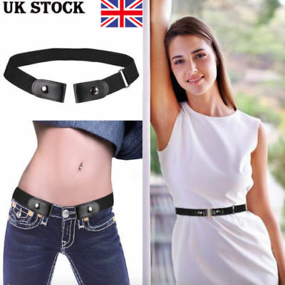 Buckle-free Elastic Invisible Waist Belt for Jeans No Bulge Hassle Waistband ELE
