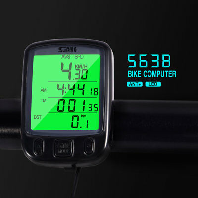 New Cycle Bicycle Bike LCD Computer Odometer Speedometer+ Green Backlight #