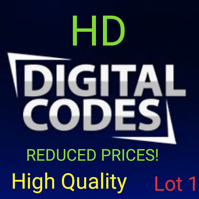 Digital HD Movie Codes! Low Prices! Fast Delivery! Lot 1