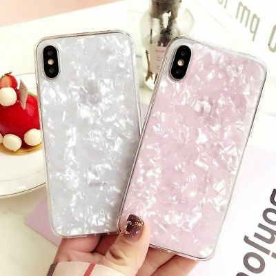 For Samsung Galaxy S7 S8 S9plus Marble Shockproof Silicone Soft Phone Case Cover