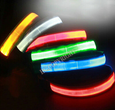 1pc LED Pet Dog Adjustable Collar Puppy Cat Necklace Collar Night Safety Bright