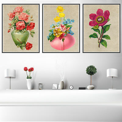 Vase Flowers Canvas Art Painting Poster Living Room Picture Wall Home Decor Gift