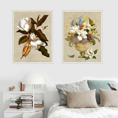 Oil Painting Flower Canvas Art Poster Living Room Picture Wall Home Decor Gift