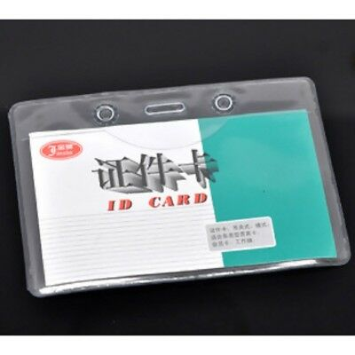 1-10 Clear Plastic ID CARD BADGE HOLDER POUCH Horizontal 10X7mm AU (B14238)