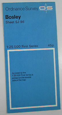 1958 Old Vintage OS Ordnance Survey 1:25000 First Series Map SJ 96 Bosley