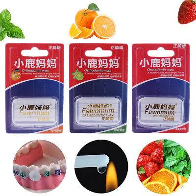 Orthodontic Braces Protection Wax with Scraper Teeth Whitening Dental Correction