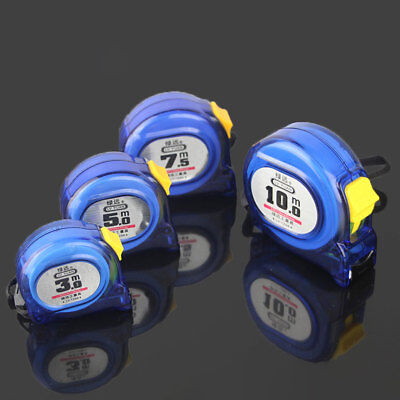 3/5/7.5/10m Metric Tape Measure Retractable Stainless Steel Measuring Tool Blue